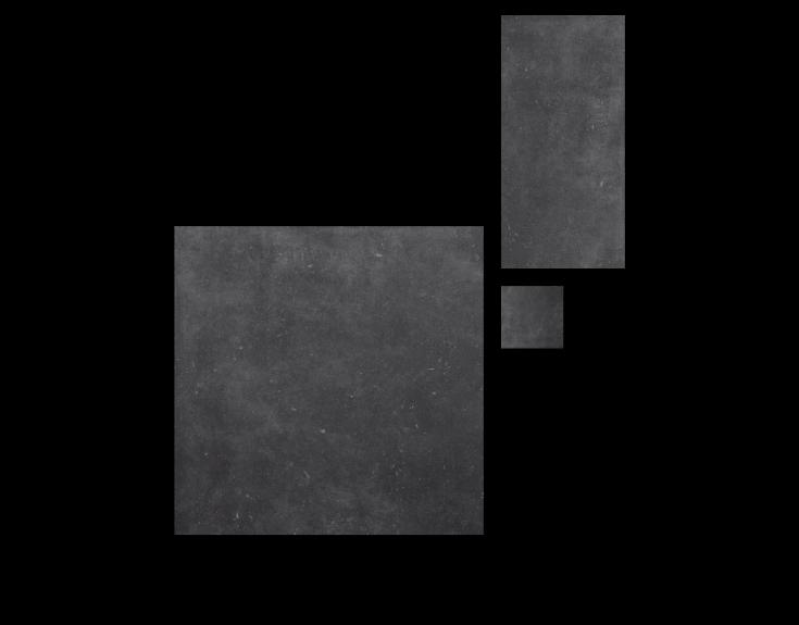 Antraciet stone- en betonlook tegels