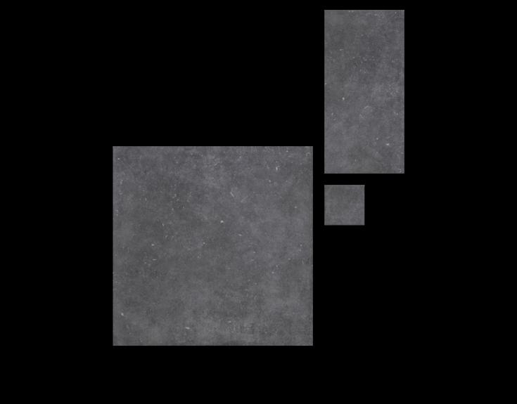 Grijze stone- en betonlook tegels