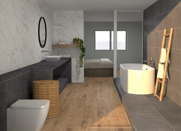 Badkamer en slaapkamer tegels