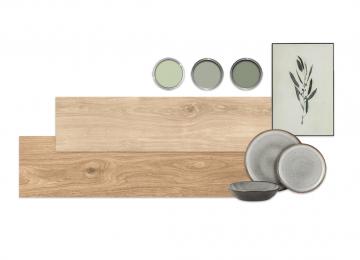Moodboard houtlook groen