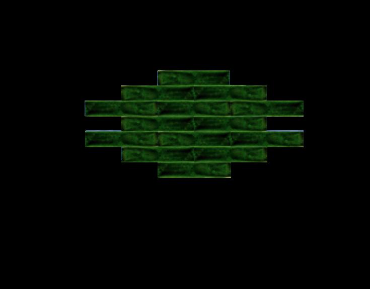 Groene handvorm tegel