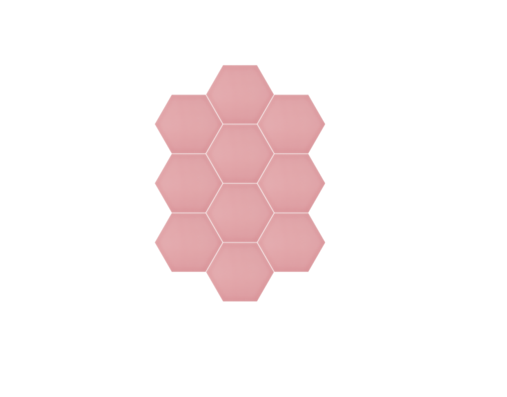 Roze hexagon tegel